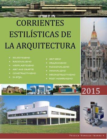 2015 CORRIENTES ESTILÍSTICAS DE LA ARQUITECTURA