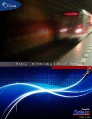 Transit Technology Choice Report - Ottawa Light Rail