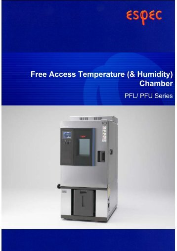 Free Access Temperature (& Humidity) Chamber - MB Electronique