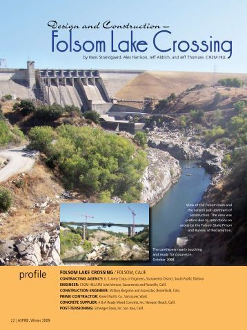 Folsom Lake Crossing - Aspire - The Concrete Bridge Magazine