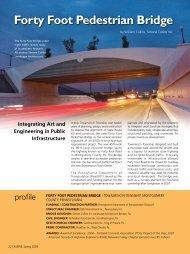 Forty Foot Pedestrian Bridge - Aspire - The Concrete Bridge Magazine