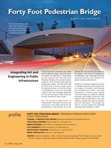 Forty Foot Pedestrian Bridge - Aspire - The Concrete Bridge Magazine