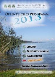 2013 ÖFFENtlichES PROGRAMM - Naturheilverein Bodensee eV