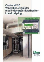 Clorius KF 20 Ventilationsregulator med indbygget ... - broen-sei