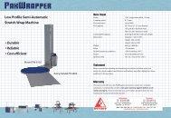 Low Profile Semi-Automatic Stretch Wrap Machine • Durable ...