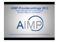 AIMP-Providerumfrage 2012 - KSS Partners Establishment