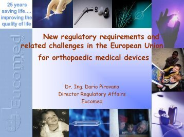 New regulatory requirements and related challenges in the ... - EAR