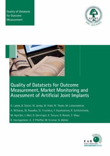 Quality of Datasets EFORT 2009 - EAR