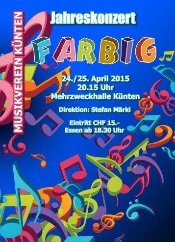 Programm Jahreskonzert 2015