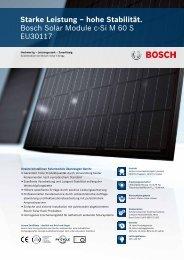 hohe Stabilität. Bosch Solar Module c-Si M 60 S EU30117 - Enerix