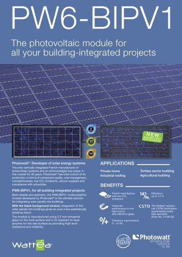 The photovoltaic module for all your building ... - Activity Solar