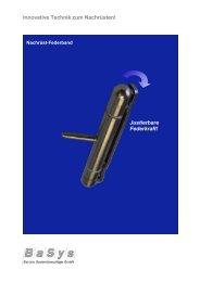 (Flyer Nachr\374st-Federband_DE) - Bartels Systembeschläge GmbH