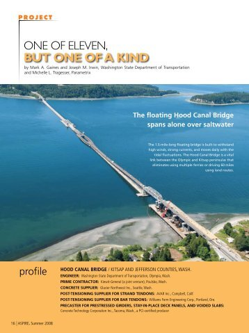 Hood Canal Bridge - Aspire - The Concrete Bridge Magazine