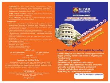 Visakhapatnam - the City of Destiny www.gitam ... - GITAM University