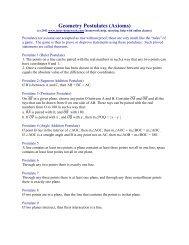 Geometry Postulates (Axioms) - Tutor-Homework.com