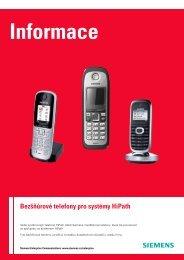 Bezšňůrové telefony pro systémy HiPath - HITEL sro