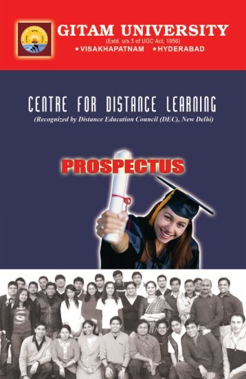 CDL prospectus 2010.pmd - GITAM University