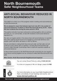 North Bournemouth ASB reduction community leaflet - Dorset Police