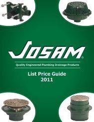 List Price Guide 2011 - Josam