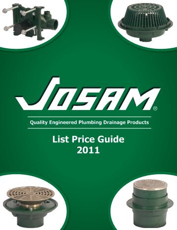 List Price Guide 2011 - Josam