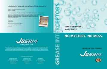 Josam Grease Recovery Products