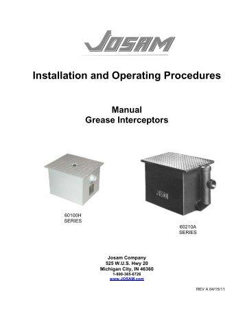 Manual and Semi-Automatic Grease Interceptor - Josam