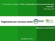 Pagamento por Serviços Ambientais - PSA