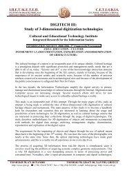 DIGITECH III: Study of 3-dimensional digitization technologies
