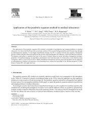 Application of the parabolic equation method to medical ultrasonics