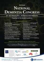 3rd annual national dementia congress - Informa Australia