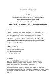 Exprestech s.r.o., Hlavná 41, 925 55 Vinohrady nad Váhom