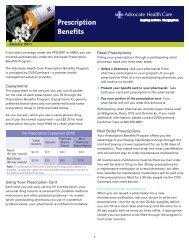 Prescription Benefits - Advocate Benefits - Advocate Health Care