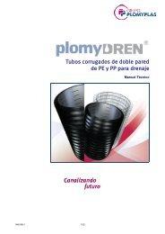 Tubos corrugados de doble pared de PE y PP para ... - Plomyplas