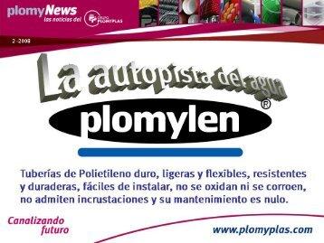 Tuberías de Polietileno duro, ligeras y flexibles ... - Plomyplas