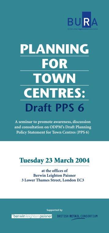 draft pps 6 - British Retail Consortium