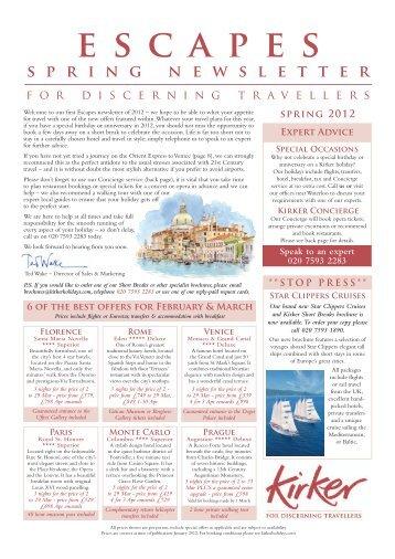 spring 2012 - Kirker Holidays