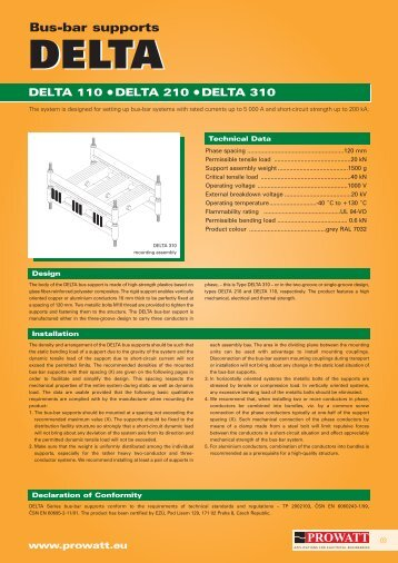 Product catalogue DELTA - Prowatt