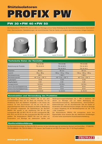 Katalog PROFIX PW - Prowatt