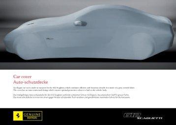 Car cover Auto-schutzdecke