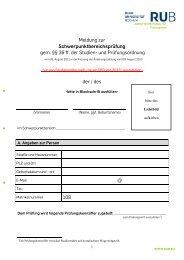 Meldung zur Schwerpunktbereichsprüfung - Juristische Fakultät
