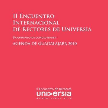 Agenda de Guadalajara 2010. II Encuentro Internacional ... - Universia