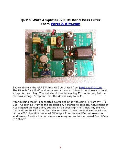 QRP 5 Watt Amplifier - WA3WSJ