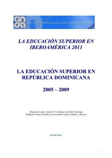 INFORME: EDUCACIÓN SUPERIOR EN IBEROAMÉRICA - Universia