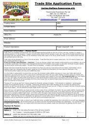 Trade Site Application Form - Powercruise