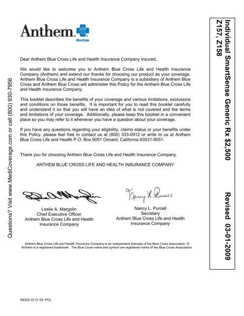Anthem Blue Cross Life And Health Insurance Company