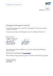 MT Højgaard A/S delårsrapport for 1. halvår 2013 - Monberg ...