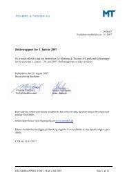 Delårsrapport - 1. halvår - Monberg & Thorsen