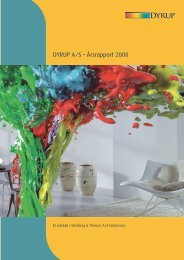 DYRUP A ⁄ S • Årsrapport 2008 - Monberg & Thorsen