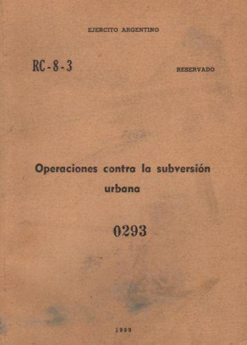 Dictadura - Manual Operaciones Urbanas