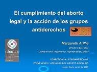 El cumplimiento del aborto legal y la acción de los grupos ...